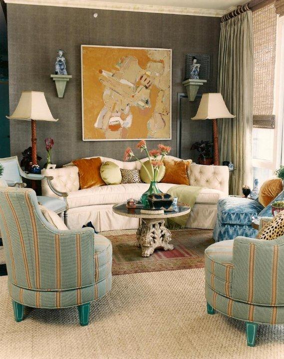 голубой цвет в дизайне интерьера