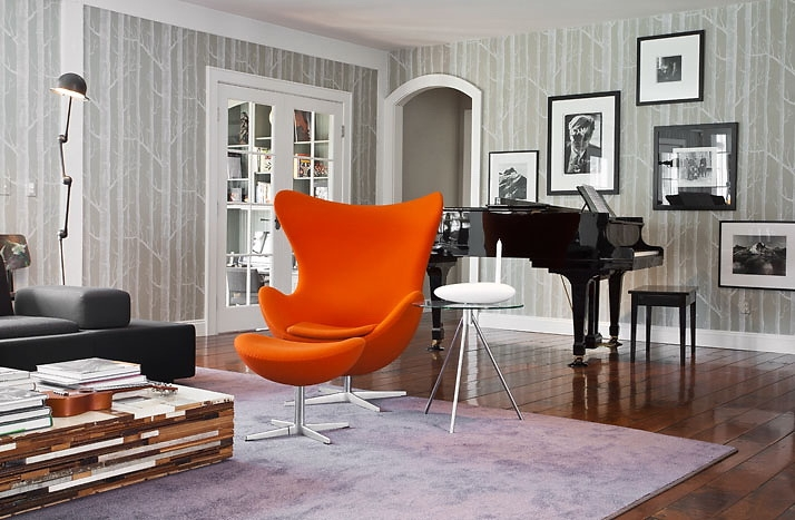 оранжевый цвет в дизайне интерьера