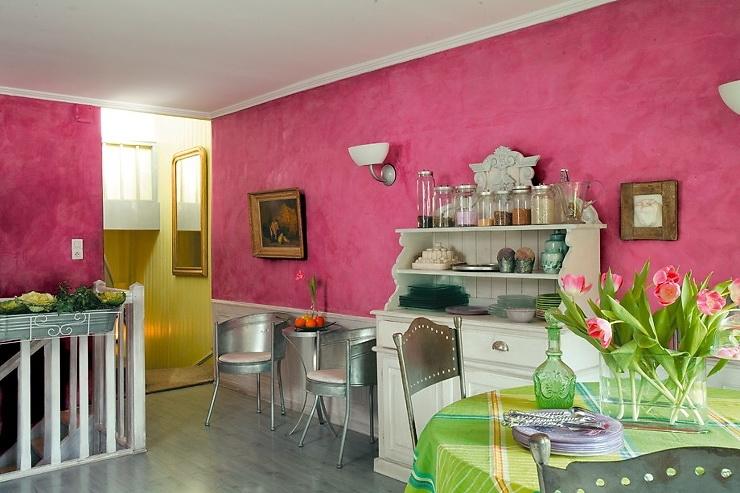 розовый цвет в дизайне интерьера